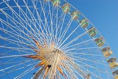 Panoramic wheel with palm Stock Photo