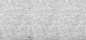 Free Panoramic White Brick Wall Stock Photography - 69495382