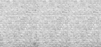 Panoramic white brick wall