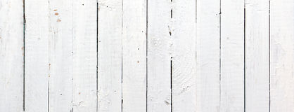 Panoramic White Wooden Plank Royalty Free Stock Photos