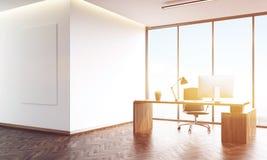 Panoramic window office Stock Photos