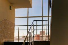 Panoramic window. Window with panoramic view, interior Royalty Free Stock Photography