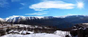 Panoramic winter landscape Royalty Free Stock Photos