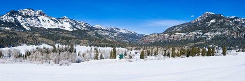 Panoramic of Wolf Creek Pass, Colorado. Stock Image