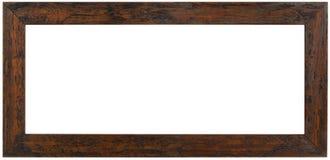 Panoramic Wooden Frame Cutout royalty free stock photos