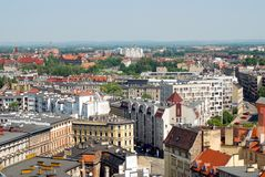 Panoramic Wroclaw Stock Photo