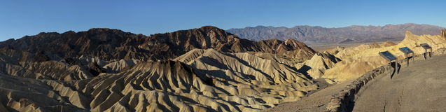 Panoramic Zabriskie Point at Death Valley Stock Image