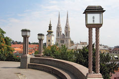 Panoramic Zagreb Royalty Free Stock Photos