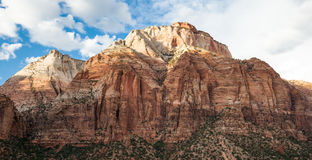 Panoramic of Zion National Park Royalty Free Stock Images