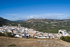 Panoramic Zuheros. Overview of the municipality of Córdoba Zuheros Royalty Free Stock Image