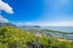 Panoramica aerea a paesaggio urbano della Tailandia Fotografia Stock