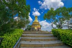 Panoramica aerea a paesaggio urbano della Tailandia Fotografie Stock Libere da Diritti