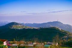 Panoramica aerea a paesaggio urbano della Tailandia Fotografie Stock