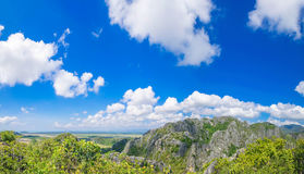 Panoramica aerea a paesaggio urbano della Tailandia Immagini Stock Libere da Diritti