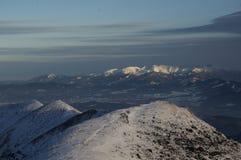 Panoramica da Velky Krivan Fotografia Stock
