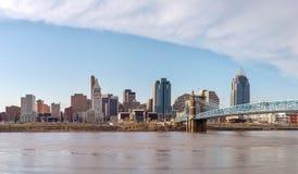 Panoramica del centro di Cincinnati Fotografia Stock