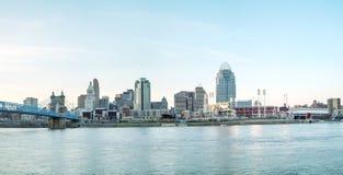 Panoramica del centro di Cincinnati Fotografie Stock Libere da Diritti