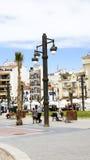 Panoramica del centro di Sitges Fotografia Stock Libera da Diritti