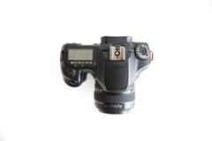 Panoramica del corpo della fotocamera e della lente di Dslr fotografia stock