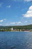 Panoramica del lago Titisee Immagini Stock Libere da Diritti