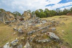 Panoramica del sito storico delle miniere di carbone immagini stock libere da diritti