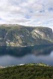 panoramica del Sognefjord Fotografie Stock Libere da Diritti