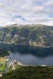panoramica del Sognefjord Fotografia Stock Libera da Diritti