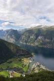 panoramica del Sognefjord Immagini Stock Libere da Diritti