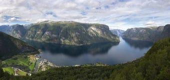 panoramica del Sognefjord Fotografia Stock