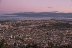 Panoramica della città di Fès nel Marocco Immagini Stock Libere da Diritti