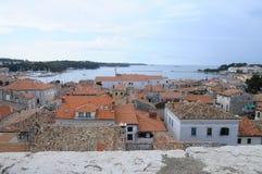 Panoramica della città di Porec in Croazia Fotografia Stock Libera da Diritti
