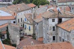 Panoramica della città di Porec in Croazia Immagini Stock Libere da Diritti