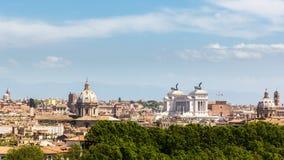 Panoramica della città di Roma Fotografia Stock Libera da Diritti