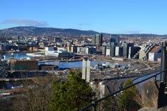 Panoramica della città - Oslo, Norvegia Immagini Stock