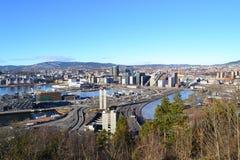 Panoramica della città - Oslo, Norvegia Fotografie Stock Libere da Diritti