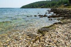 Panoramica della costa della penisola di Premantura Immagine Stock