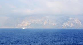Panoramica della costa della Tunisia Immagini Stock Libere da Diritti