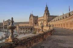 Panoramica della plaza della Spagna Fotografia Stock Libera da Diritti