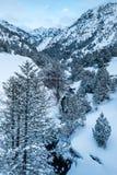 Panoramica della valle di Ordino in Andorra Fotografie Stock Libere da Diritti