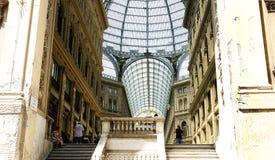 Panoramica delle gallerie Umberto I, Napoli Immagini Stock Libere da Diritti