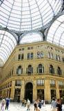 Panoramica delle gallerie Umberto I, Napoli Fotografie Stock