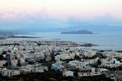 Panoramica di alba a Xania Fotografie Stock Libere da Diritti