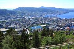 Panoramica di Bergen Immagini Stock Libere da Diritti