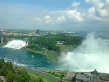 Panoramica di cascate del Niagara Immagine Stock