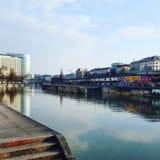 Panoramica di Cityline Danubio Immagine Stock