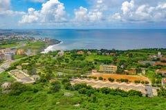 Panoramica di Dakar dalla piattaforma di osservazione Fotografia Stock Libera da Diritti
