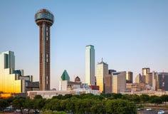 Panoramica di Dallas del centro Fotografie Stock Libere da Diritti