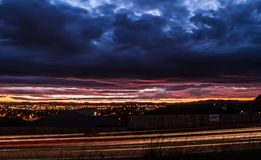 Panoramica di Hamilton New Zealand Fotografie Stock