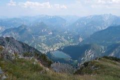 Panoramica di Hieflau nel nationalpark di Gesäuse Fotografia Stock Libera da Diritti