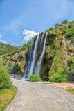 Panoramica di Krcic della cascata Fotografie Stock Libere da Diritti